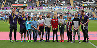 Premier League academy winners during the Premier League match between Swansea City and Chelsea at The Liberty Stadium on September 11, 2016 in Swansea, Wales.