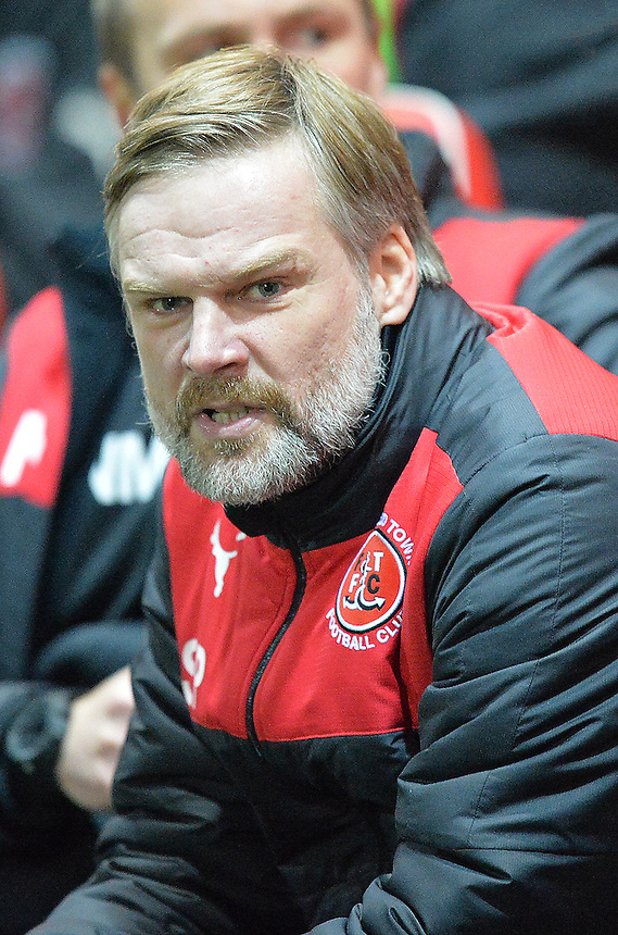 Fleetwood Town's Manager Steven Pressley<br /> <br /> Photographer Dave Howarth/CameraSport<br /> <br /> Football - The Football League Sky Bet League One - Fleetwood Town v Millwall - Tuesday 24th November 2015 - Highbury Stadium<br /> <br /> &copy; CameraSport - 43 Linden Ave. Countesthorpe. Leicester. England. LE8 5PG - Tel: +44 (0) 116 277 4147 - admin@camerasport.com - www.camerasport.com