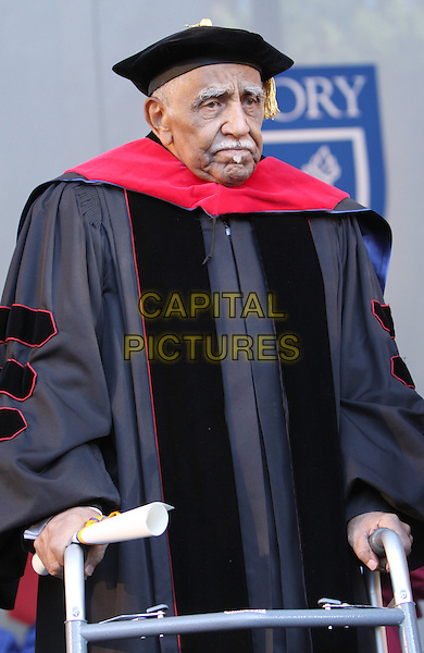 REVEREND JOSEPH LOWERY.Long-time civil rights leader The Reverend Joseph Lowery at the Emory University Commencement with Arnold Schwarzenegger as the Keynote Speaker and honorary degree recipient Atlanta, GA, USA..May 10th, 2010.half length cloak robe red hat black .CAP/ADM/DH.©Dan Harr/AdMedia/Capital Pictures.