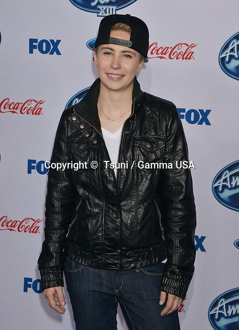 MK Nobilette 311 at the American Idol X!!! Finalists Party-2014 at the Fig & Olive Restaurant in Los Angeles.