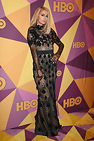 BEVERLY HILLS, CA - JANUARY 07: Actress/socialite Paris Hilton arrives at HBO's Official Golden Globe Awards After Party at Circa 55 Restaurant in the Beverly Hilton Hotel on January 7, 2018 in Los Angeles, California.