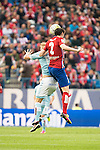 Atletico de Madrid's Godin and Celta de Vigo's Wass during La Liga Match at Vicente Calderon Stadium in Madrid. May 14, 2016. (ALTERPHOTOS/BorjaB.Hojas)