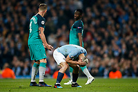 Sergio Aguero of Manchester City looks dejected during the UEFA Champions League Quarter Final second leg match between Manchester City and Tottenham Hotspur at the Etihad Stadium on April 17th 2019 in Manchester, England. (Photo by Daniel Chesterton/phcimages.com)<br /> Foto PHC/Insidefoto <br /> ITALY ONLY