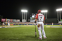 9 March 2009: #7 Ivan Rodriguez of Puerto Rico waits in the batter box during the 2009 World Baseball Classic Pool D game 4 at Hiram Bithorn Stadium in San Juan, Puerto Rico. Puerto Rico wins 3-1 over Netherlands