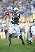 18 October 2008:  Penn State QB Daryll Clark (17) throws..The Penn State Nittany Lions defeated the Michigan Wolverines 46-17 October 18, 2008 at Beaver Stadium in State College, PA..