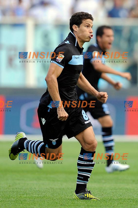 Esultanza dopo il gol di Anderson Hernanes (Lazio).07/10/2012 Pescara.Football Calcio 2012 / 2013 .Campionato di Calcio Serie A.Pescara vs Lazio.Foto Insidefoto.