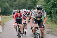 World Champion Peter Sagan (SVK/Bora-Hansgrohe) attacking on the last climb of the day (with Tim Wellens hanging on)<br /> <br /> Stage 3: Oberstammheim &gt; Gansingen (182km)<br /> 82nd Tour de Suisse 2018 (2.UWT)