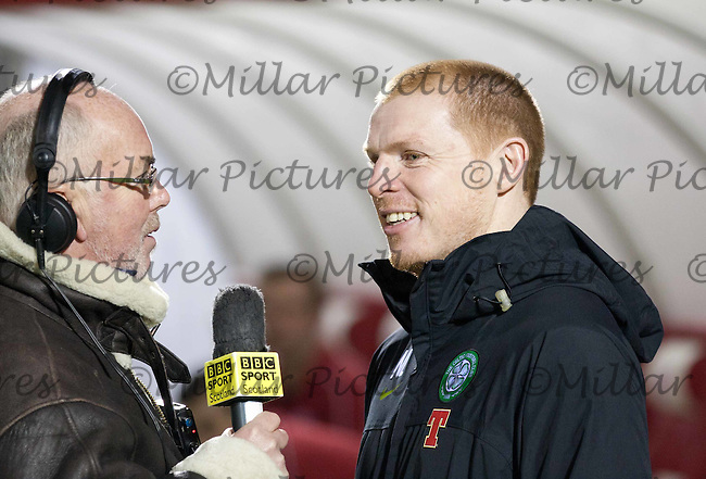 Neil Lennon interviewed pre match by Chick Young