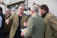 Stirling Scotland :- February 4th 2018<br /> The 2018 Stirling Bull Sales<br /> The Rt Hon Michael Gove MP Secretary of State for Environment, Food and Rural Affairs chats to farmers when he visits the Stirling Bull Sales,Stirling,Scotland.<br /> &copy;Tim Scrivener Photographer 07850 303986<br /> ....Covering Agriculture In The UK....