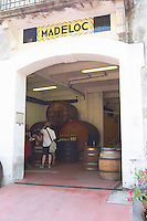 Domaine Madeloc, Banyuls sur Mer. Roussillon. A door. The winery building. France. Europe.