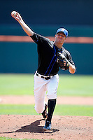 July 30, 2009:  Pitcher Lance Broadway of the Buffalo Bisons delivers a pitch during a game at Coca-Cola Field in Buffalo, NY.  Buffalo is the International League Triple-A affiliate of the New York Mets.  Photo By Mike Janes/Four Seam Images