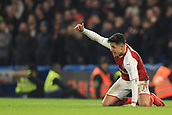 10th January 2018, Stamford Bridge, London, England; Carabao Cup football, semi final, 1st leg, Chelsea versus Arsenal; A frustrated Alexis Sanchez of Arsenal