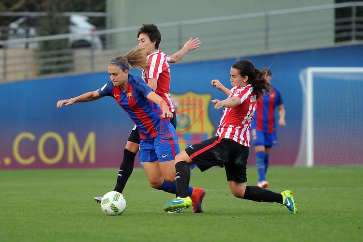 Spanish Women's Football League Iberdrola 2016/17 - Game: 11.<br /> FC Barcelona vs Athletic Club: 2-1.<br /> Alexia Putellas vs Eunate.