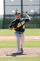 Ian Krol, Oakland Athletics 2010 minor league spring training..Photo by:  Bill Mitchell/Four Seam Images.