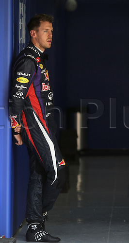 11.05.2013 Barcelona, Spain. Formula 1 Qualifying Session. Picture shows Sebastian Vettel after finish Q3 at circuit de Catalunya