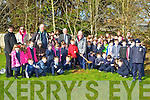 Currow NS pupils with John McLoughlin from the Tree Council of Ireland,Terence O'Connell Tree Council of Ireland and Noel Lane The Forestry Company who donated trees to the school for the National Tree week on Tuesday
