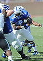 Duke Blue Devils Josh Snead (9) during a game against the Tulane Green Wave on September 20, 2014 at Wallace Wade Stadium in Durham, NC. Duke beat Tulane 47-13.