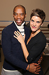 Rodney Hicks and Jenn Colella attends the press day for Broadway's 'Come From Away' at Manhattan Movement and Arts Center on February 7, 2017 in New York City.