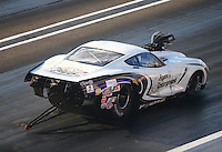 Sep 2, 2016; Clermont, IN, USA; NHRA pro mod driver Danny Rowe during qualifying for the US Nationals at Lucas Oil Raceway. Mandatory Credit: Mark J. Rebilas-USA TODAY Sports