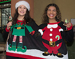 Carolina and Satara during the Ugly Sweater Wine Walk in downtown  Reno on Saturday, Dec. 16, 2017.