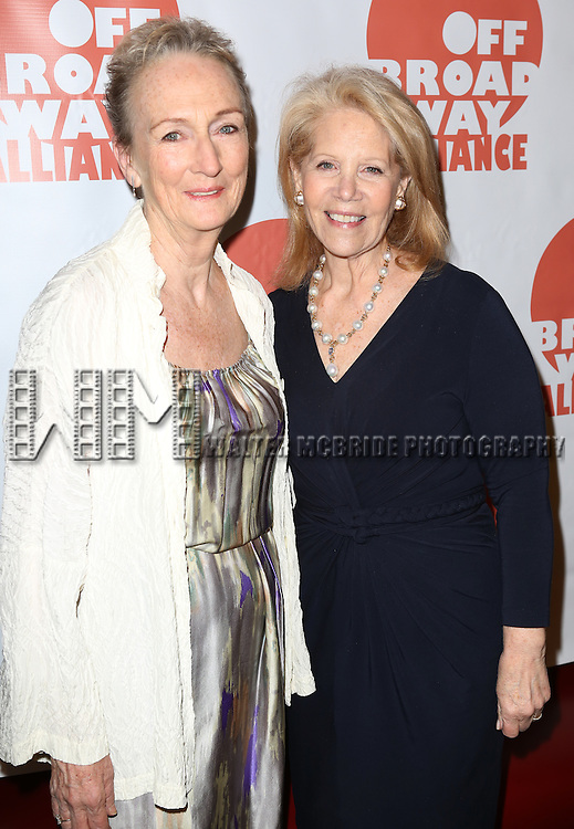 Kathleen Chalfant; Daryl Roth  attending The 3rd Annual Off Broadway Alliance Awards Reception at Sardi's Restaurant in New York City on June 18, 2013