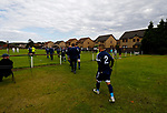 Burntisland Shipyard 0 Colville Park 7, 12/08/2017. The Recreation Ground, Scottish Cup First Preliminary Round. The Colville players emerge after half time. Photo by Paul Thompson.