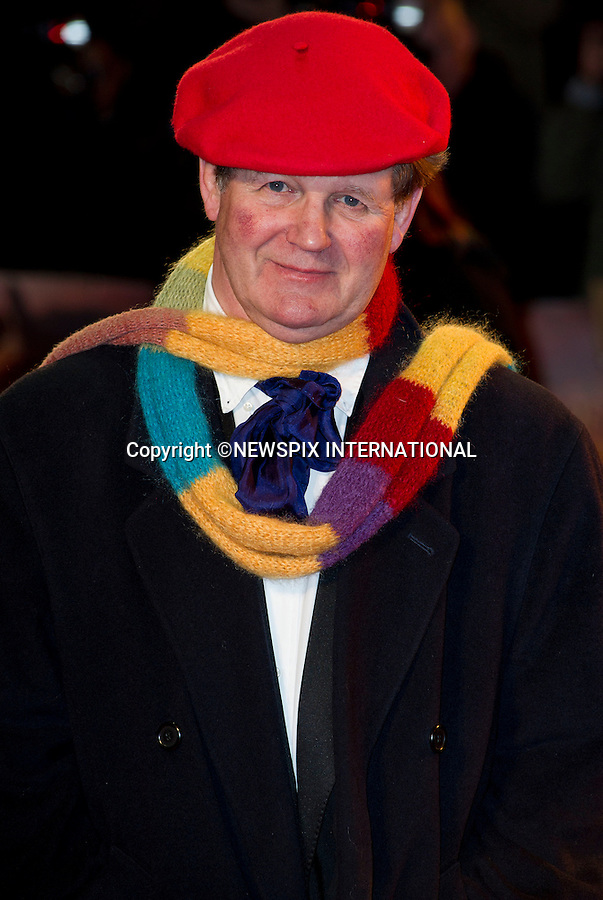"WARHORSE ROYAL PREMIERE.Michael Morpurgo..Catherine, The Duchess of Cambridge attends her first Royal Premiere for the UK Premiere of Warhorse.The Duchess was accompanied by the Duke of Cambridge, Prince William_08/01/2012..Mandatory Photo Credit: ©Dias/Newspix International..**ALL FEES PAYABLE TO: ""NEWSPIX INTERNATIONAL""**..PHOTO CREDIT MANDATORY!!: NEWSPIX INTERNATIONAL(Failure to credit will incur a surcharge of 100% of reproduction fees)..IMMEDIATE CONFIRMATION OF USAGE REQUIRED:.Newspix International, 31 Chinnery Hill, Bishop's Stortford, ENGLAND CM23 3PS.Tel:+441279 324672  ; Fax: +441279656877.Mobile:  0777568 1153.e-mail: info@newspixinternational.co.uk"