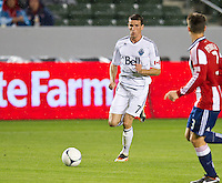 CARSON, CA - March 17, 2012: Vancouver Whitecaps FC forward Sebastien Le Toux (7) during the Chivas USA vs Vancouver Whitecaps FC match at the Home Depot Center in Carson, California. Final score Vancouver Whitecaps 1, Chivas USA 0.