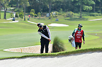 SINGAPORE - MARCH 03: Ariya Jutanugarn of Thailand chipping onto the 5th green during the final round of the HSBC Women's World Championship 2019 at Sentosa Golf Club - Tanjong Course, Singapore on March 03, 2019.<br /> .<br /> .<br /> .<br /> (Photo by: Naratip Golf Srisupab/SEALs Sports Images)<br /> .<br /> Any image use must include a mandatory credit line adjacent to the content which should read: Naratip Golf Srisupab/SEALs Sports Images