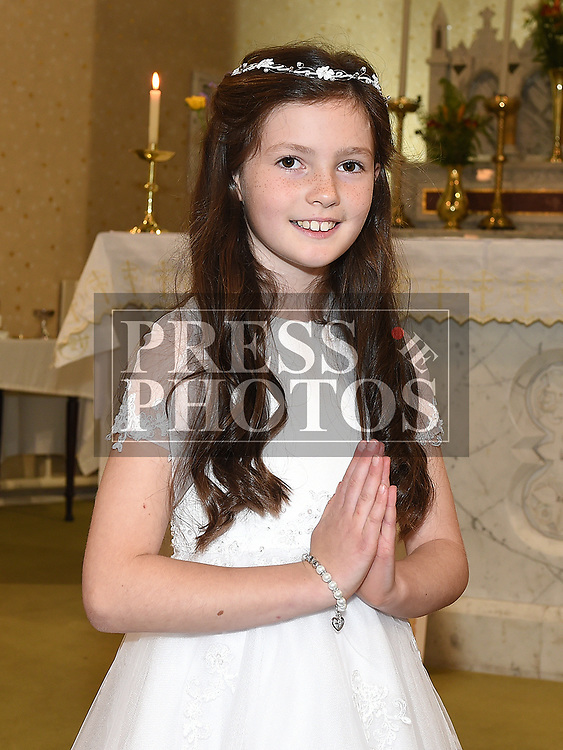 Ava McEnteggart from St. Cholmcille school Mount Hanover who received first holy communion in St. Cianan's church Duleek.  Photo:Colin Bell/pressphotos.ie