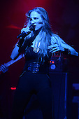 FORT LAUDERDALE FL - OCTOBER 19: Jill Janus of Huntress performs at Revolution on October 19, 2016 in Fort Lauderdale, Florida. Photo by Larry Marano © 2016