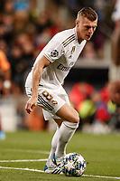6th November 2019; Estadio Santiago Bernabeu, Madrid, Spain; UEFA Champions League Football, Real Madrid versus Galatasaray; Toni Kroos (Real Madrid) turns in control of the ball - Editorial Use