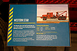 Information panel about Western Star recovery vehicle, REME museum, MOD Lyneham, Wiltshire, England, UK