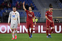 Henrikh Mkhitaryan of AS Roma celebrates after scoring the goal of 2-0 <br /> Roma 23/02/2020 Stadio Olimpico <br /> Football Serie A 2019/2020 <br /> AS Roma - Lecce<br /> Photo Andrea Staccioli / Insidefoto