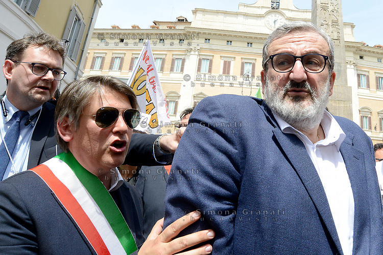 Roma, 11 Maggio 2017<br /> Michele Emiliano.<br /> Manifestazione a Roma dei Sindaci Salentini a Montecitorio contro il Gasdotto Tap