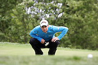 Oliver Wilson lines up his putt on the 4th green during the third round of the Irish Open on 19th of May 2007 at the Adare Manor Hotel & Golf Resort, Co. Limerick, Ireland. (Photo byEoin Clarke/NEWSFILE)