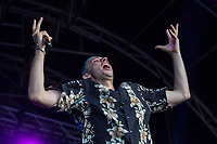 Elliot Gleave, Example, performs during AmpRocks at AmpFest at Ampthill Great Park, Ampthill, England on 29 June 2018. Photo by David Horn.