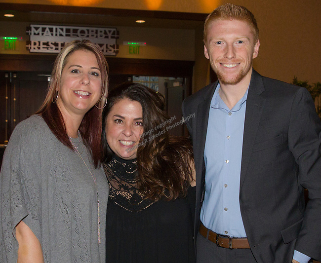 Susan Whitehouse, Kim Anastassatos and Sean Cain during the 35th Annual Bobby Dolan Baseball Dinner in the Reno Ballroom on Thursday, January 17, 2019.