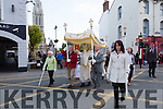 The Corpus Christi Procession leaving St John's Church, Tralee after Mass on Saturday evening last going to Hawley Park.