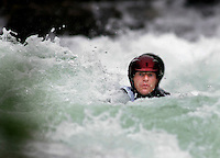 Rafting in the river Strandaleva.The Extremesport Week, Ekstremsportveko, is the worlds largest gathering of adrenalin junkies. In the small town of Voss enthusiasts in a varitety of extreme sports come togheter every summer to compete and play. Norway..©Fredrik Naumann/Felix Features.