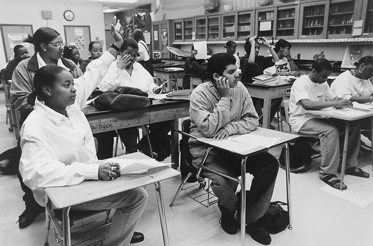 Students in Earth Science Class at T. C. Williams High School, Alexandria. (Photo by CQ Roll Call via Getty Images)