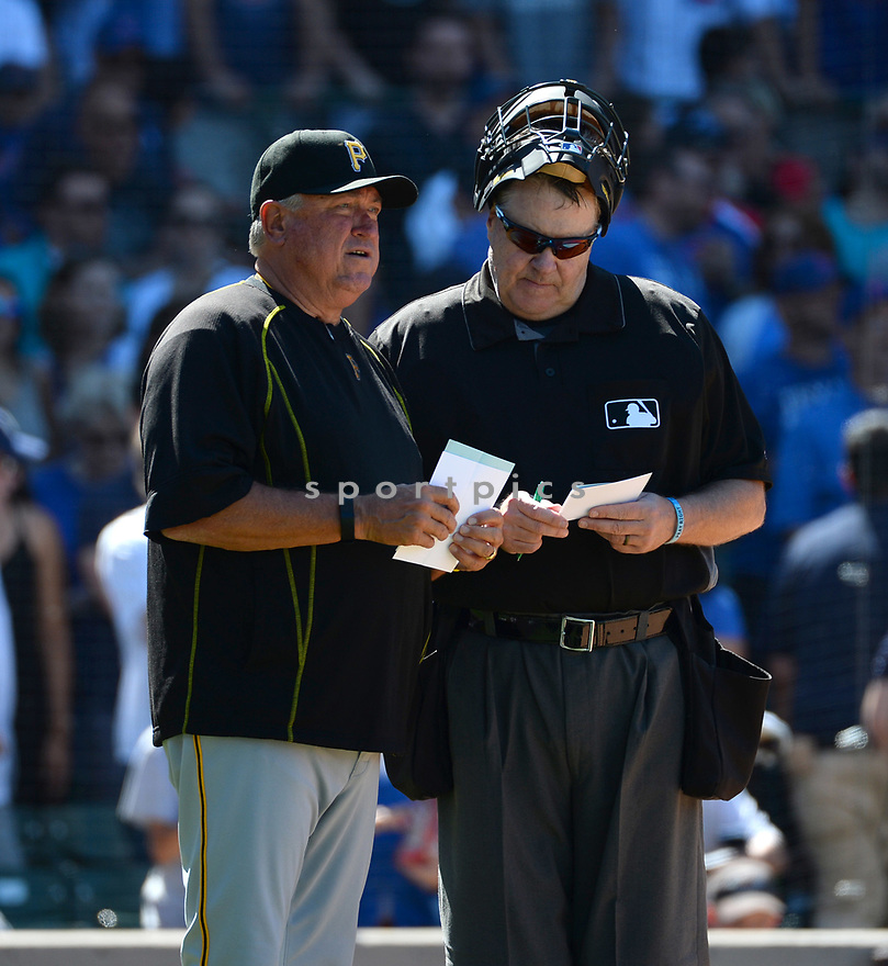 Pittsburgh Pirates Clint Hurdle (13) during a game against the Chicago Cubs on June 17, 2016 at Wrigley Field in Chicago, IL. The Cubs beat the Pirates 6-0.