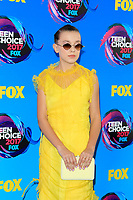 LOS ANGELES - AUG 13:  Millie Bobby Brown at the Teen Choice Awards 2017 at the Galen Center on August 13, 2017 in Los Angeles, CA