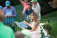 Washington DC, April 17, 2017, USA: First Lady Melania Trump reads a book to  visitors to the South Lawn of the White House for the 139th Annual Easter Egg roll and event in Washington DC. <br /> CAP/MPI/LYN<br /> &copy;LYN/MPI/Capital Pictures