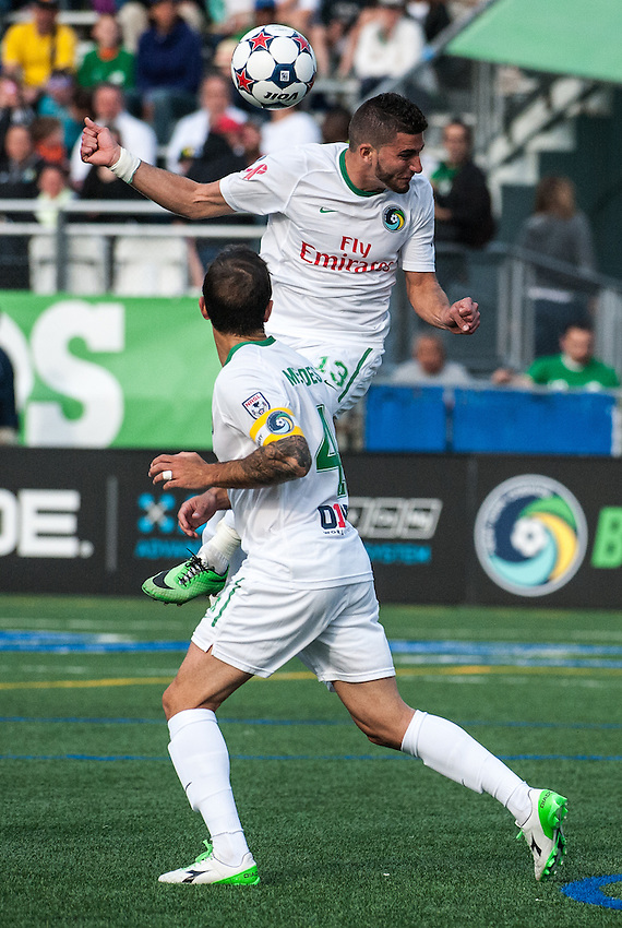HEMPSTEAD, NY – April 13: Sebastian Guenzatti of the New York Cosmos against the Atlanta Silverbacks during an NASL match on April 13, 2014 at  Shuart Stadium in Hempstead, New York.