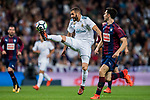 Karim Benzema of Real Madrid in action during the La Liga 2017-18 match between Real Madrid and SD Eibar at Estadio Santiago Bernabeu on 22 October 2017 in Madrid, Spain. Photo by Diego Gonzalez / Power Sport Images