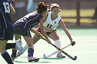 STANFORD, CA - OCTOBER 19:  Jennifer Luther of the Stanford Cardinal during Stanford's 12-0 win over UC Davis on October 19, 2008 at the Varsity Field Hockey Turf in Stanford, California.