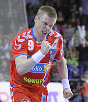 28.04.2012. Barcelona, Spain. Velux EHF Champions League (Quarter Final 2nd Leg). Picture show Gudjon Valur Sigurdsson in action during match between FC Barcelona Intersport against AG Copenhagen at Palau Blaugrana