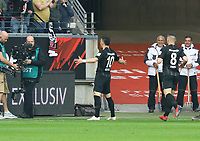 celebrate the goal, Torjubel zum 1:0 von Filip Kostic (Eintracht Frankfurt) - 31.03.2019: Eintracht Frankfurt vs. VfB Stuttgart, Commerzbank Arena, DISCLAIMER: DFL regulations prohibit any use of photographs as image sequences and/or quasi-video.