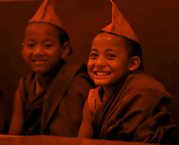 A moment in the life of little Buddhist Monks<br /> , Sikkim, India